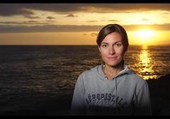 Shana (JN) Tags: sunset portrait female hawaii nikon oahu sb600 honolulu softbox 50mmf18 lastolite d700 ezybox