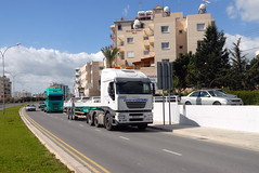 TRUCKING IN CYPRUS (Claude  BARUTEL) Tags: sea truck turkey island mediterranean transport cyprus partition divided trucking iveco