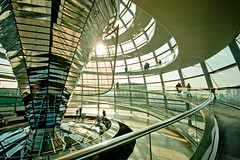 Reichstag (Mick h 51) Tags: berlin glass architecture canon germany deutschland eos ramp europe view sigma 360 1999 reichstag foster cupola dome government parliment 1020 mitte tiergarten 1895 sirnormanfoster 450d