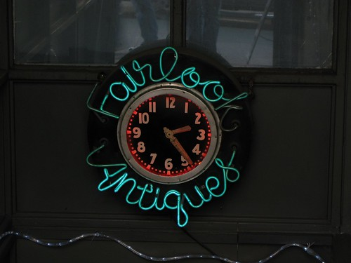 Fairlook Antiques Sign Clock