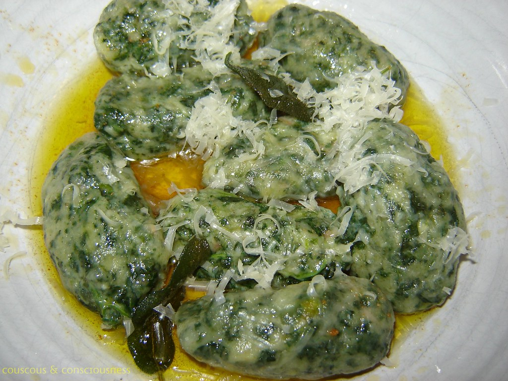 Couscous & Consciousness: Spinach and Ricotta Gnocchi with Sage Butter ...