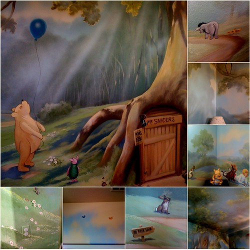 Winnie the Pooh Children's Room Mural