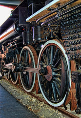 Driving Wheels (DigitalLUX) Tags: railroad wheel train tren industrial railway steam locomotive rueda vapor locomotora ferrocarril steamlocomotive alco drivingwheel ruedamotriz