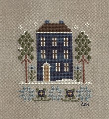 LHN Red House in Winter by Renee's Stitching