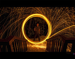 Bolas... (Paul Rodrigues Photographies -OFF-) Tags: wood light france night photoshop wow dark circle fire photography photo chains nikon iron lumire flames picture bolas sombre photograph fuego fotografia bp fogo nuit nocturne feu fer cercle paille laine tincelles stumble photographe marne flammes stmaur balades d90 parisiennes chanes cs5 limaille waow wwwstumbleuponcom paulrodrigues rodriguespaul stmaurdesfosssrodrigues stumbleup