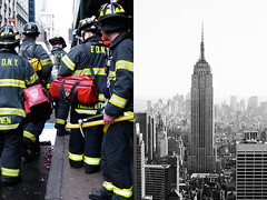 heroes - new york (Emmanuel Catteau photography) Tags: world new york people panorama usa building men tourism america globe uniform photographer tour view state manhattan sightseeing reporter aerial empire heroes firemen sight traveling fdny trotteur catteau wwwemmanuelcatteaucom emmanuelcatteau