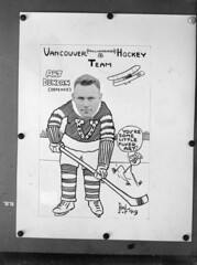 Vancouver (Millionaires) Hockey Team, Vancouver Hockey Club [copy of photo/caricature of Art Duncan]