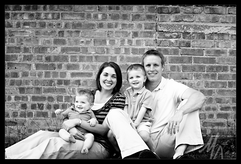 Bryan & Deanna Family 1 cropped bw blog