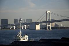 Rainbow Bridge (Rory Prior) Tags: bridge sea urban japan tokyo bay odaiba rainbowbridge fujitv