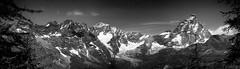 Cervino - Matterhorn (4.478 m) (Alefoto.it) Tags: blackandwhite bw italy panorama mountain alps switzerland italia suisse matterhorn alpi montagna cervinia 4000 valtournenche quattromila alefoto valdaodta