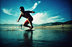 (willgoodan) Tags: sunset film beach lca xpro velvia zuma skimboarding krab westward rvp