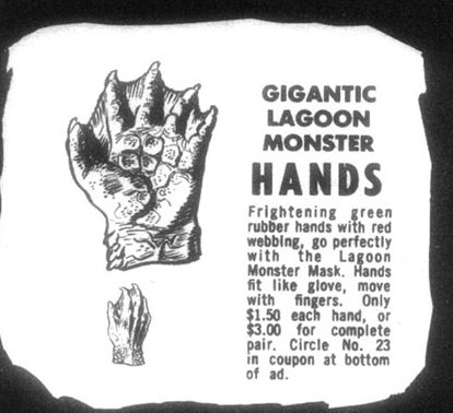 Gigantic lagoon monster hands