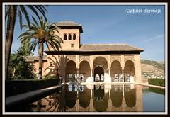 Torre de las Damas en la Alhambra - Granada (Gabriel Bermejo Muoz) Tags: espaa reflection art heritage water gardens spain agua arch muslim palace andalucia unesco alhambra moorish granada reflejo an