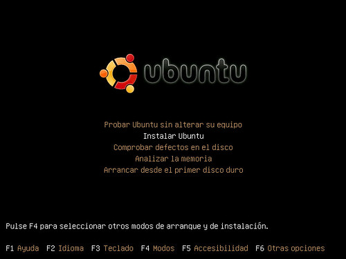 Seleccionar Instalar Ubuntu