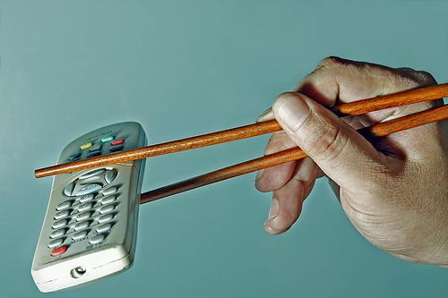 television chopstick remote