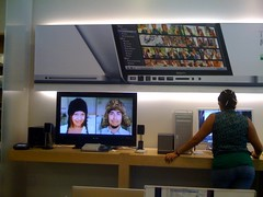 Cindy & Seth welcome you to the Apple Store (arkworld) Tags: cindy seth cinnamon applestore appletv doublecappuccino