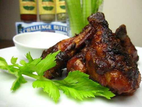 Baked Chipotle Chicken Wings w/ Challenge Butter