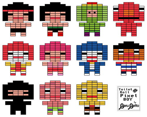pixel art rollos de papel higiénico 3