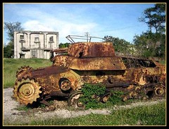 Japanese WWII Tank (Saipan Pictures) Tags: world old 2 plant army island japanese airport marine war gun tank power pacific military wwii rusty battle historic cannon tropical ww2 battlefield tropics artifacts rubble airfield isley saipan marianas cnmi northernmarianaislands aslito aslitofield