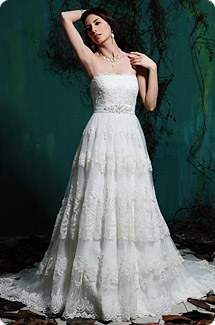 Baby-Doll and bridal gown.