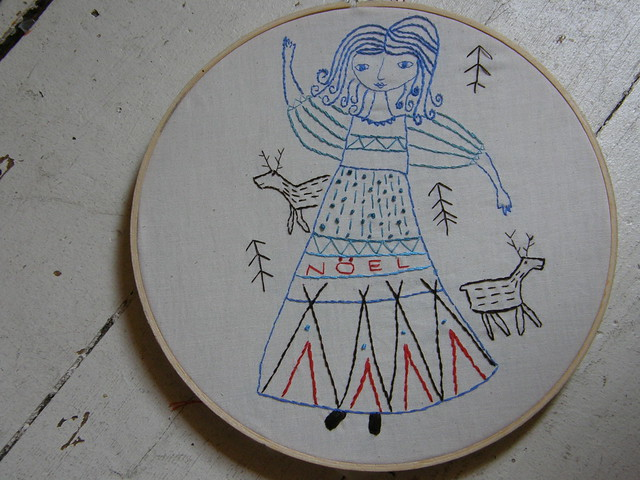 TeePee Girl :: Christmas Embroidery