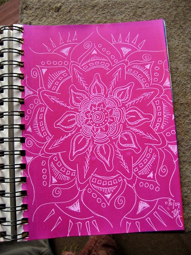 White on Magenta Mandala
