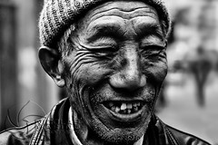 Beauty is skin deep (nico3d) Tags: china people blackandwhite bw shanghai chinese