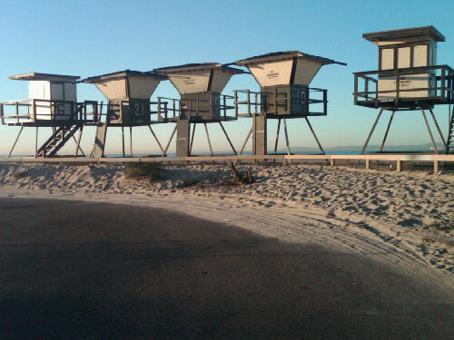 Lifeguard Towers on Thanksgiving Day 1
