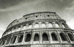 The Colosseum (nhuisman) Tags: old italy rome roma green art texture monochrome sepia architecture mono italian ancient ruins europe roman antique eu monotone vert colosseum worn rough tone grungy the