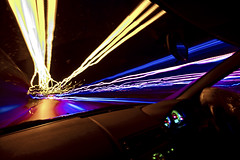 DriveHome (andyathlon) Tags: motion car swansea night lights long exposure driving shot sony trails sigma 1020 a700