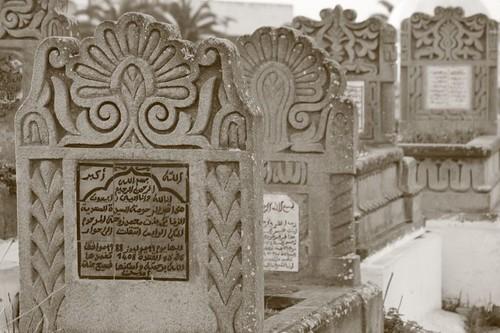 Enormous graveyard in Rabat.
