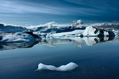 Iceland : Iceberg Lagoon Jkulsrln (ariefous) Tags: blue reflection ice nature canon landscape iceland wide lagoon glacier iceberg northern jkulsrln 18mm kissx2