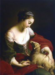 Pompeo Batoni, Tameness, , 1752. Uppark, Sussex, The National Trust, The Fetherstonhaugh Collection (renzodionigi) Tags: portrait sculpture painting design ritratto art italian fine italiana arte