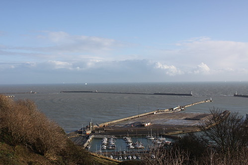 Wave effect in Dover Harbour