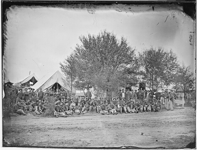 Group of soldiers by The US National Archives