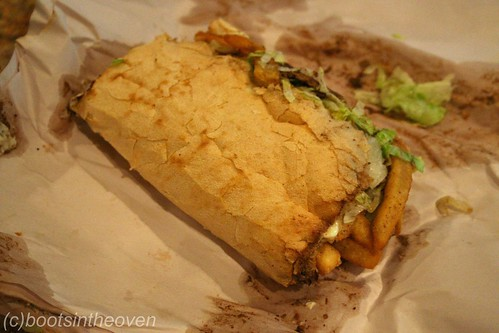 French fry poboy (That's right)