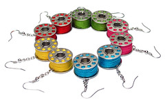 Bobbin Rainbow (weggart) Tags: handmade craft jewelry weggart