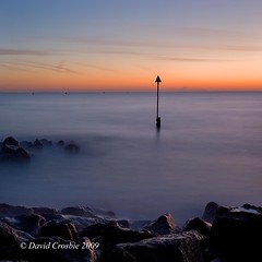 Sandbanks, Dorset - Sunrise (David Crosbie) Tags: winter sunrise dorset groyne bournemouth sandbanks poole superaplus aplusphoto