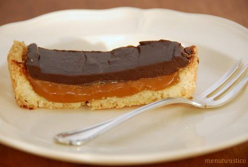 choco- caramel tarte