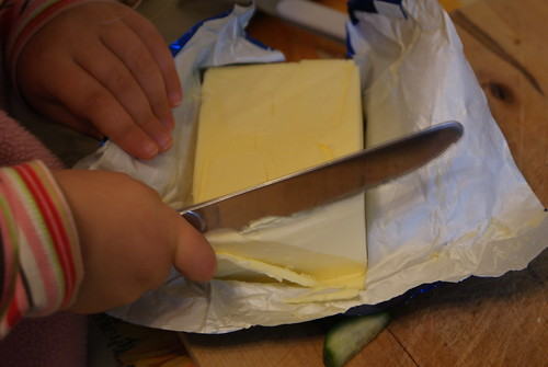 Cutting butter