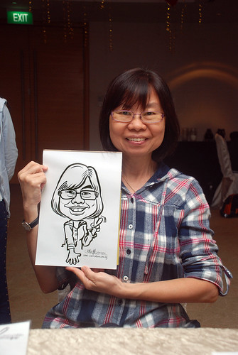caricature live sketching for birthday party 220110 - 16
