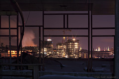 Construction Site at night (Dmitry Mordolff) Tags: life street travel winter light sunset sky urban sunlight house snow building tower skyline architecture night skyscraper outdoors office site twilight construction downtown cityscape exterior view traffic russia crane dusk moscow district horizon cities scene panoramic aerial illuminated steam business tall residential cloudscape kremlin fume