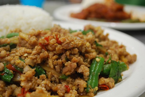 Minced Chicken with Basil with Rice - close-up - i Spicy AUD10