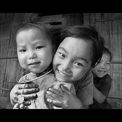 Kids Life... Smiles, tears and fun... (NaPix -- (Time out)) Tags: life portrait blackandwhite smile kids fun asia tears vietnam sapa hmong napix artofimages bestportraitsaoi elitegalleryaoi