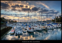 Marina del Rey, California (szeke) Tags: ocean california sunset usa sun clouds sailboat landscape boat us losangeles unitedstates pacific processing hdr marinadelrey photomatix nikcolorefex imagenomic overtheexcellence thesuperbmasterpiece szeke