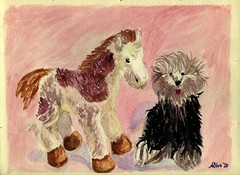 Plush foal & Sheepdog