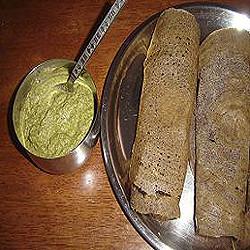 Dershana's Fermented Ragi Dosa