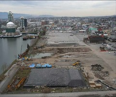 the site, pre-construction (by: city of Vancouver)