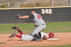 eating dirt (pixel fixel) Tags: baseball gauchos saddlebackcollege
