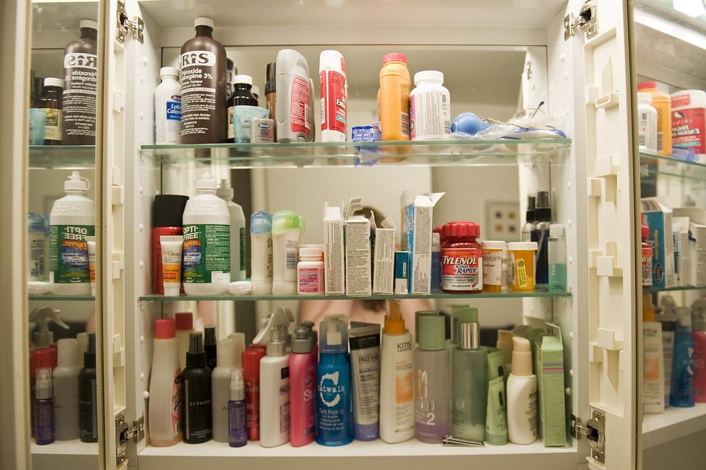 Inside my medicine cabinet